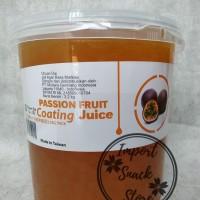 Topping Popping Boba Passion Fruit Coating Juice / Boba Markisa Taiwan