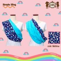 Petite Mimi Gendongan Bayi Kaos Geos 2 motif Bolak Balik S, M, L, XL
