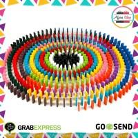 Mainan Paket Balok Domino 120PCS Mainan Anak Kado ANak Multi-Color