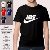 KAOS OBLONG DISTRO NIKE CHECK COTTON COMBED 30S PRIA WANITA S M L XL