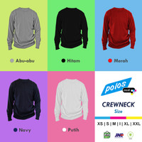 Crewneck/ Sweater/ Jaket Double Face Fleece - XXL - Putih, XXL