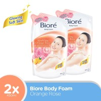 Biore Body Foam Orange Rose 450Ml twinpack