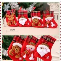 XKK3 kaos kaki socks natal aksesoris gantungan pohon natal dekorasi
