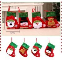 XKK2 kaos kaki socks natal aksesoris gantungan pohon natal dekorasi