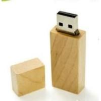 USB FLASHDISK WOOD KAYU KOTAK 4GB/8GB/16GB/32GB + LOGO