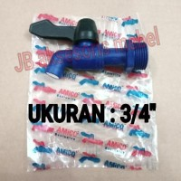 KRAN AIR PLASTIK 3/4 MERK AMICO / KERAN AIR TEMBOK PVC
