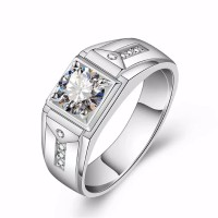 Cincin Pria Silver 925 Batu Zircon Untuk Pernikahan