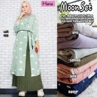 Baju Muslim Wanita Gamis Set Moon Orignal