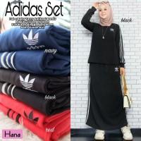 Baju Muslim Wanita Set Adidas Keren