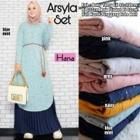 Baju Muslim Wanita Gamis Set Arsyla Original