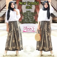Gamis Set Gendis New Arrival Kulot Batik Solo Original