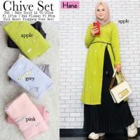 Gamis Set Baju Muslim Wanita Chive Original