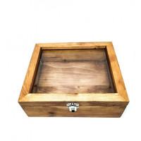 Houseofcuff kotak kayu coklat tua untuk kotak bestman groomsmen box