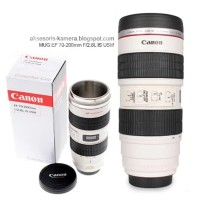 Termos Mug Gelas Model Lensa Kamera Canon EF 70-200mm lensa Mug