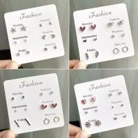 6pasang Anting Set /6pairs/Set / Anting-Anting Tusuk / Fashion Jewelry