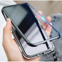 Vivo Y93 | Y95 Fingerprint Premium Clear Aluminium Magnetic Case 1501 - Hitam