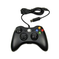 STICK XBOX 360 KABEL/WIRED HITAM CONTROLLER FOR XBOX 360 /PC