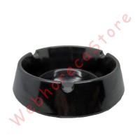 Round Ash Tray Black 10cm / Asbak Bar Bulat Hitam Melamine Premium