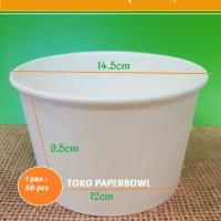Mangkok kertas Paperbowl 33 oz 1000 ml isi 50 pcs