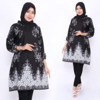 Baju Atasan Wanita / Tunik Labirin Flower / Blous Batik Kantor