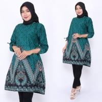Baju Atasan Wanita Tunik Cendrawasih Perak / Blus Batik Kantor