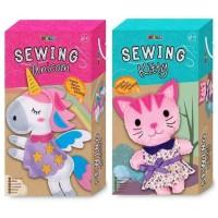 Avenir Sewing Unicorn Kitty Mainan Kreatif Menjahit Boneka Anak