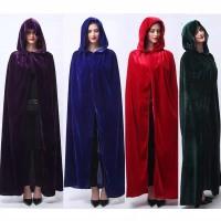 Hoodie Jubah Gothic Panjang Pria / Wanita untuk Kostum Acara Halloween
