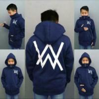 sweater jaket anak hoodie zipper alan walker hitam navi merah S M L