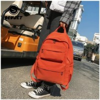 Tas Ransel Laptop / Tas Kuliah Retro Korean Backpack