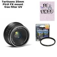 Lensa 7Artisan 25mm For Fuji FX Mount Free Filter