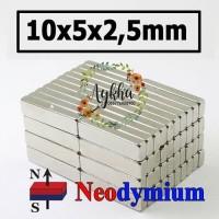 Magnet Strong Neodymium Super Kuat Kotak 10mmx5mmx2.5mm 10x5x2.5 mm