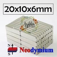 Magnet Strong Neodymium Super Kuat Kotak Persegi 20mm x 10mm x 6mm