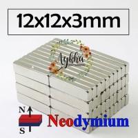 Magnet Strong Neodymium Super Kuat Kotak Persegi Panjang 12mmx12mmx3mm