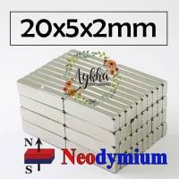 Magnet Strong Neodymium Super Kuat Kotak 20mm x 5mm x 2mm 20mmx5mmx2mm