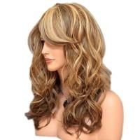 1Pc Wig / Rambut Palsu Wanita Model Panjang Keriting Gelombang U Cos