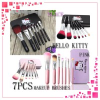 ID BRUSH SET HELLO KITTY MAKE UP BRUSH 7 IN 1 BOX KALENG KUAS TABUNG H