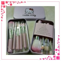 ID KUAS HELLO KITTY MINI KALENG ISI 7 PCS HELLO KITTY BRUSH SET 7 IN 1