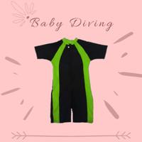 Baju Renang Diving Polos Anak Bayi Size L Hijau