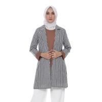 Outerwear Muslim Wanita   Marel Blazer   Cotton Square - Pink