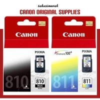Paket Canon Catridge PG 810 dan CL 811 Original Bk Color ada sticker