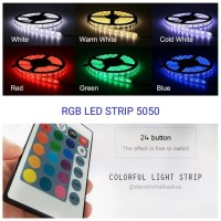 FLEXIBLE STRIP LED 5050 RGB IP44 + FLASHER REMOTE CONTROL
