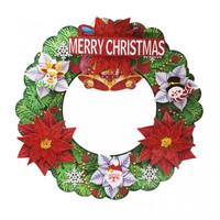 Gantungan Natal Krans Karton Bunga 3D - Dekorasi Natal