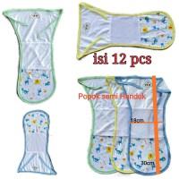 Popok Kain Tali Bayi 1 lusin Semi handuk Newborn