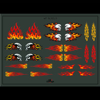 TERMURAH DECAL WHITE TONER HOTWHEELS SKULL FIRE API