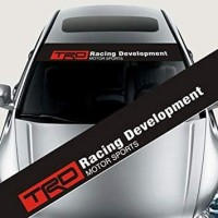 Stiker Cutting Kaca depan belakang Mobil TRD Racing Development