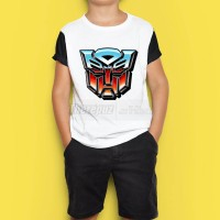 kaos anak ganbar transformers