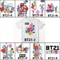 Kaos / Baju BTS BT21 Bangtan Part 2 Free Custom Nama Print DTG