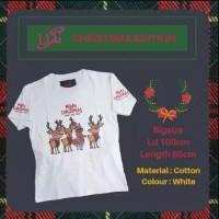 Kaos LCC Merry Christmas Deers Big Size