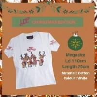 Kaos LCC Merry Christmas Deers Mega Size