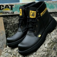 sepatu pria kerja proyek lapangan Caterpillar safety - Hitam, 39